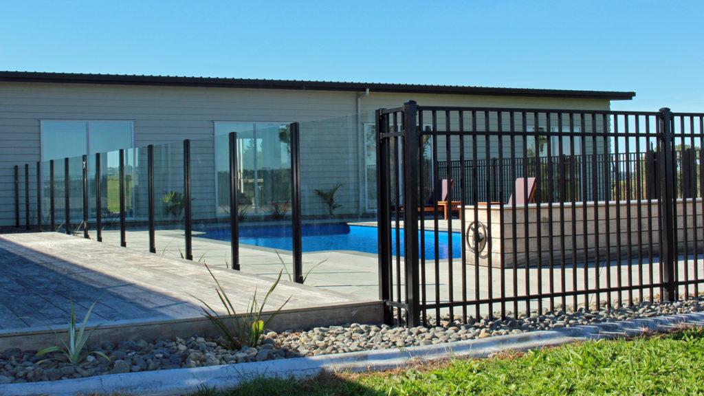 Edge Semi Frameless Glass Pool Fence with Sanctuary Aluminium Pool Fencing