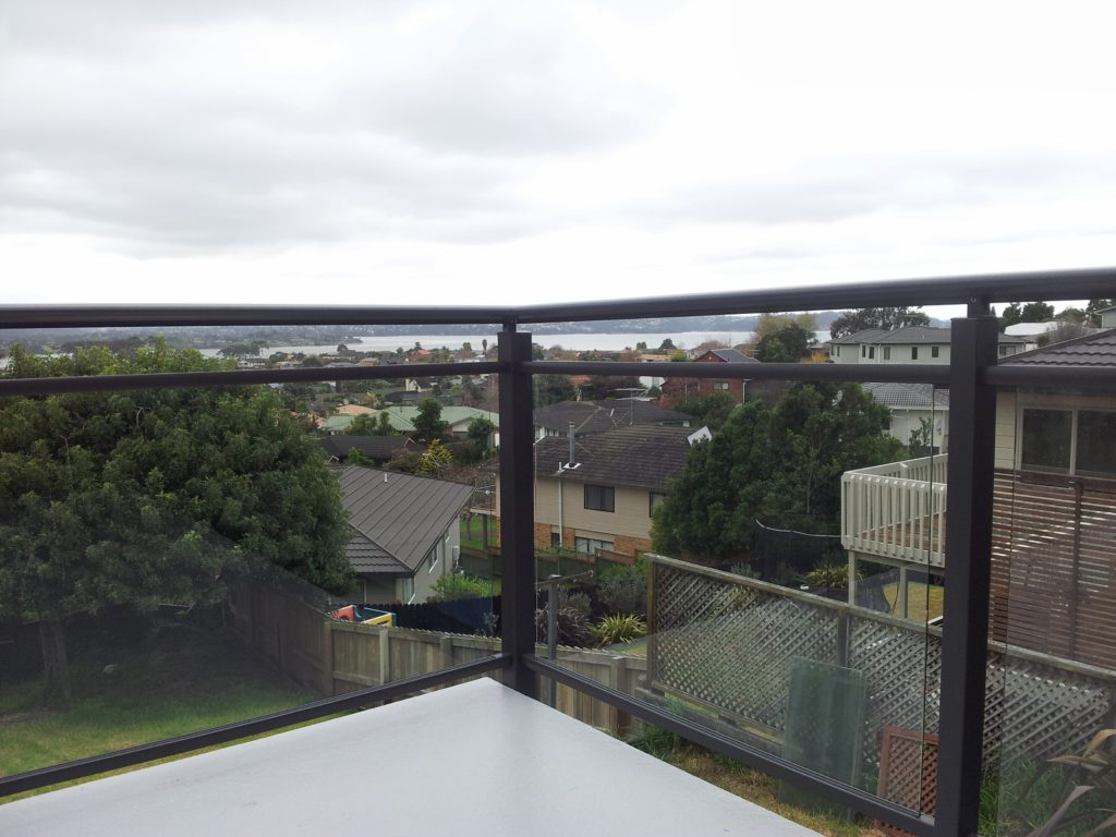 Edge Semi Frameless Glass with Split Top Rail