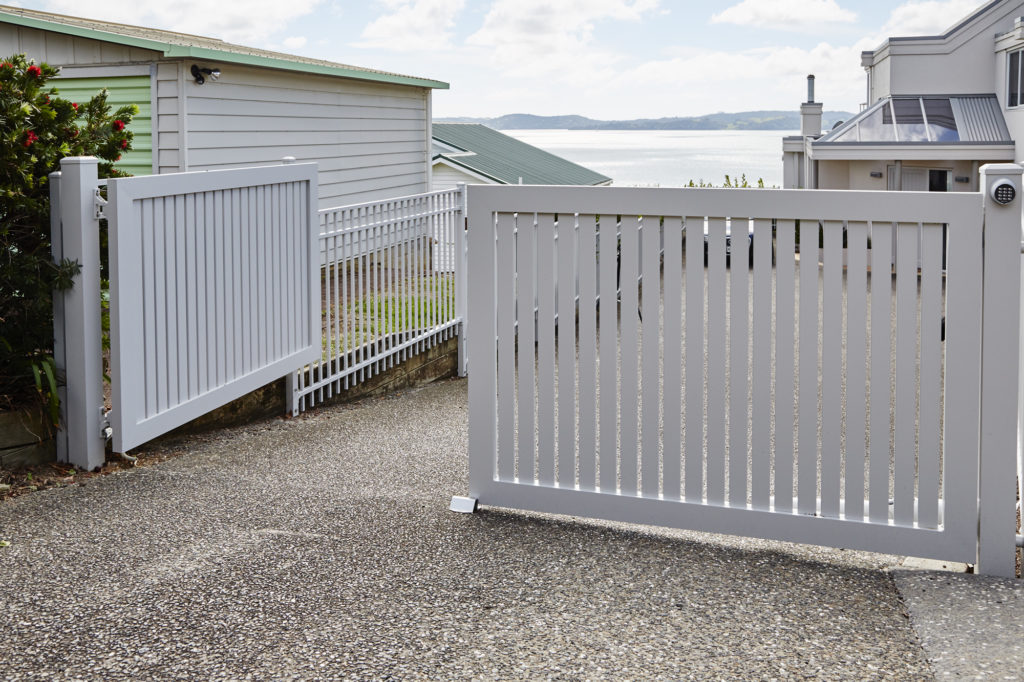 Sanctuary Aluminium Fence with Architectural Series Gate