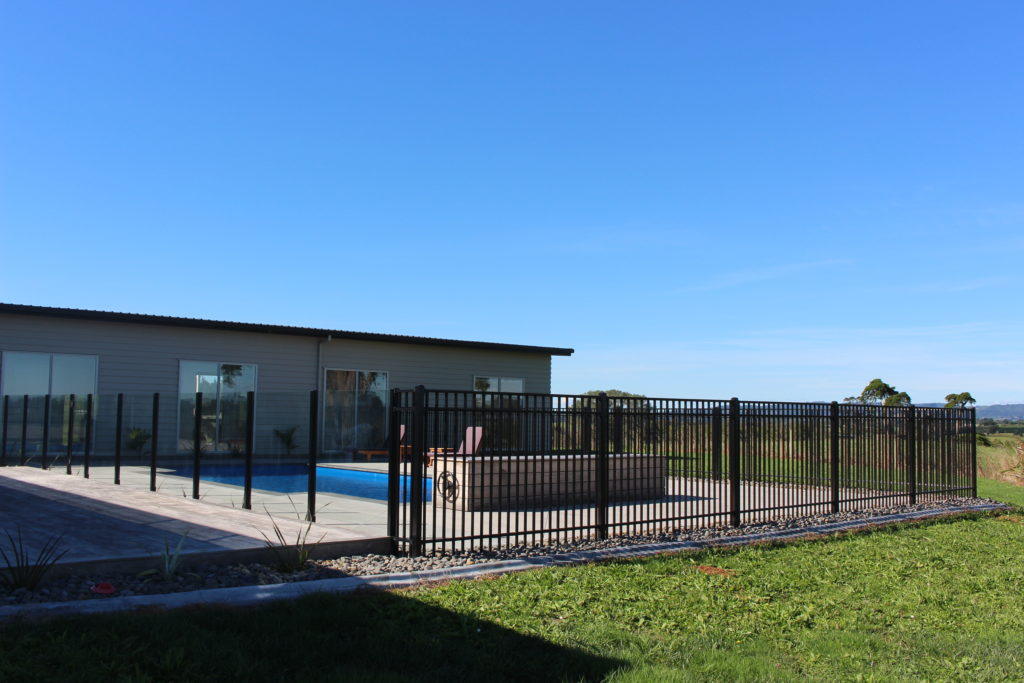 Sanctuary Aluminium Pool Fencing paired with Semi Framless Glass
